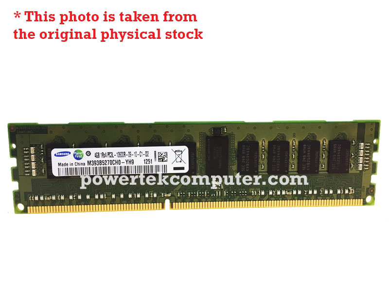 SAMSUNG DDR3 ECC REGISTER 4GB 1RX4 PC3-10600R