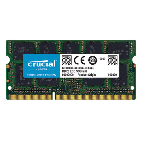 Crucial CT4G3S186DJM 4GB DDR3L-1866 SODIMM Memory for Mac